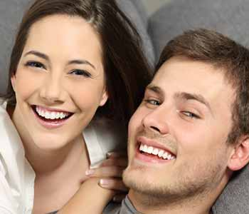 Image of a Happy couple having with Brighter teeth